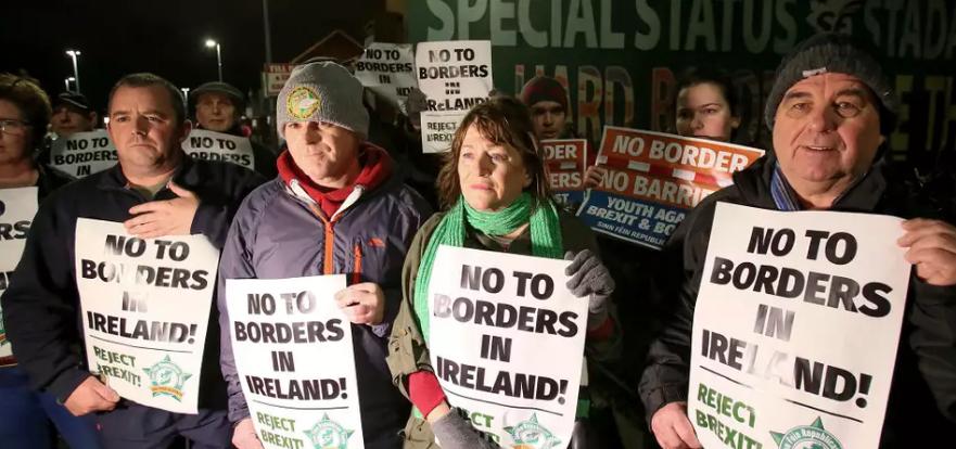 Protestors calling for Irish unity
