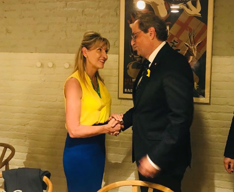 Martina Anderson with Catalan President Quim Torra.