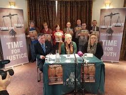 Sinn Féin with victims campaigners.