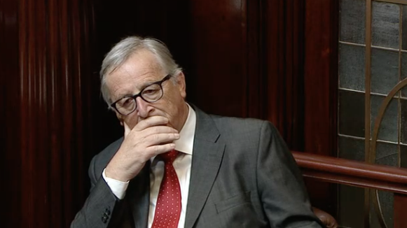 Jean Claude Juncker in the Dáil.