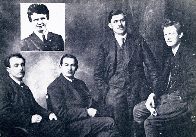 Séamus Robinson, Seán Treacy, Dan Breen, Michael Brennan and Seán Hogan