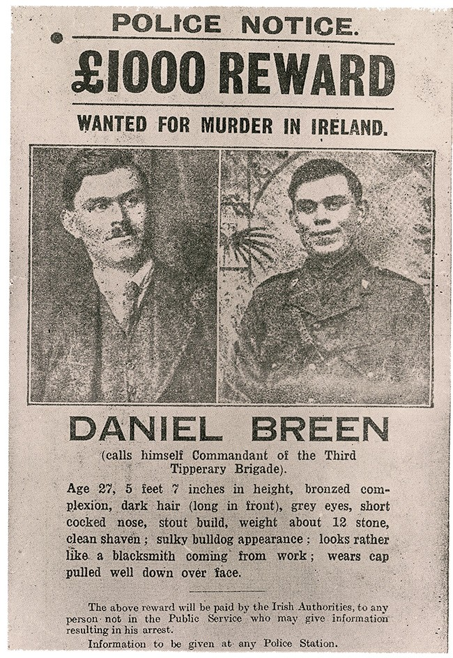 'Wanted Poster' issued for Dan Breen