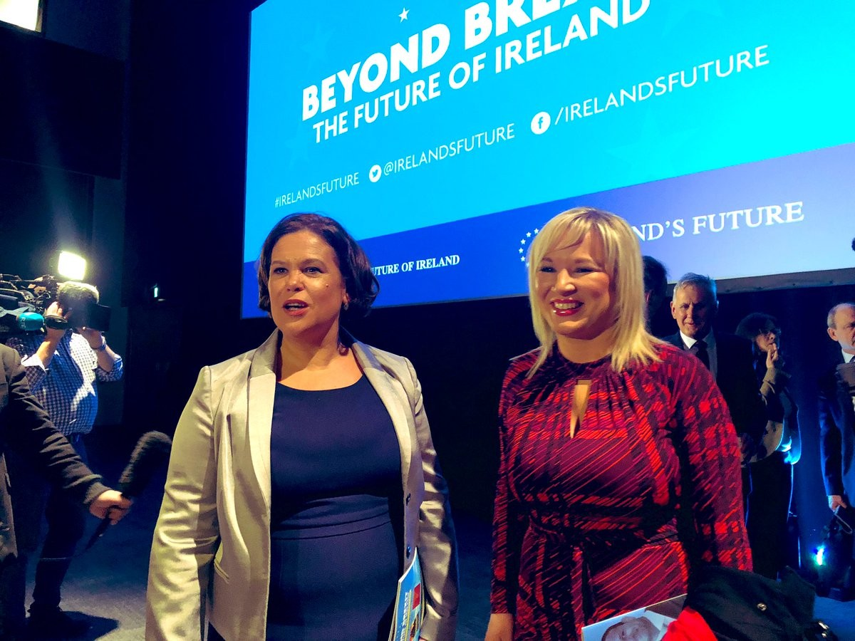Mary Lou McDonald and Michelle O'Neill.