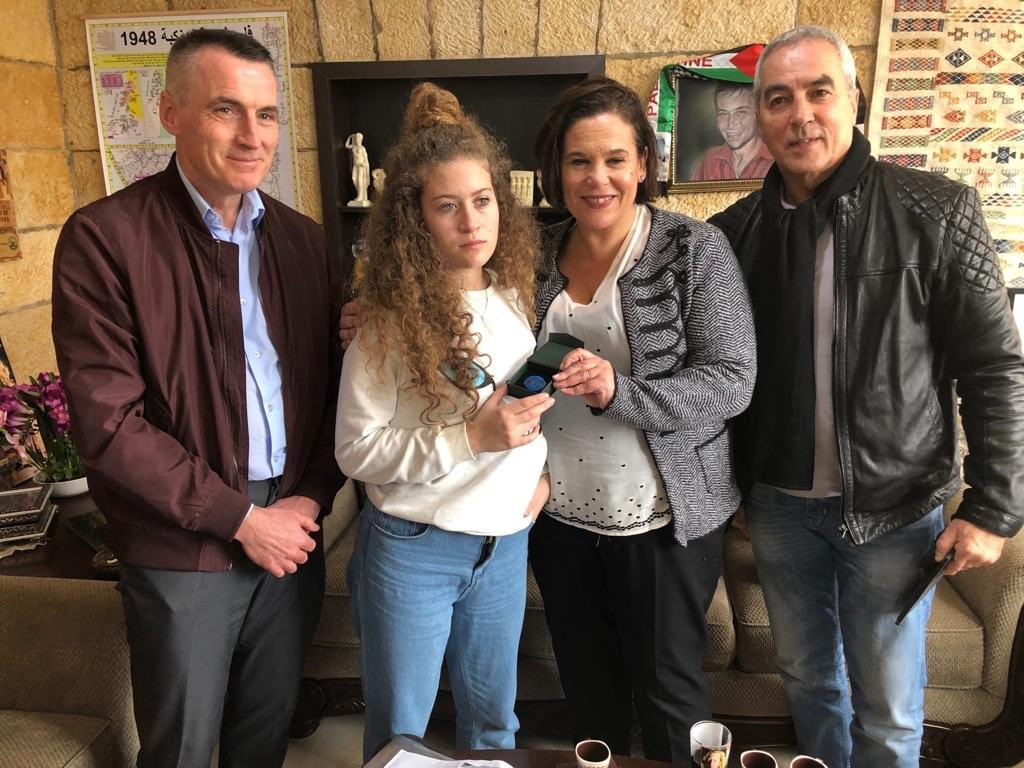 The Sinn Féin delegation meet Ahed Tamini
