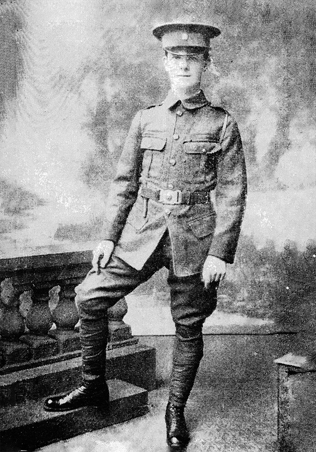 Martin Savage in his Irish Volunteers uniform