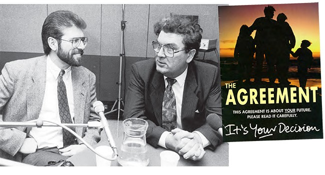 The dialogue between Gerry Adams and John Hume was critical in the development of a peaceful progress which resulted in the Good Friday Agreement