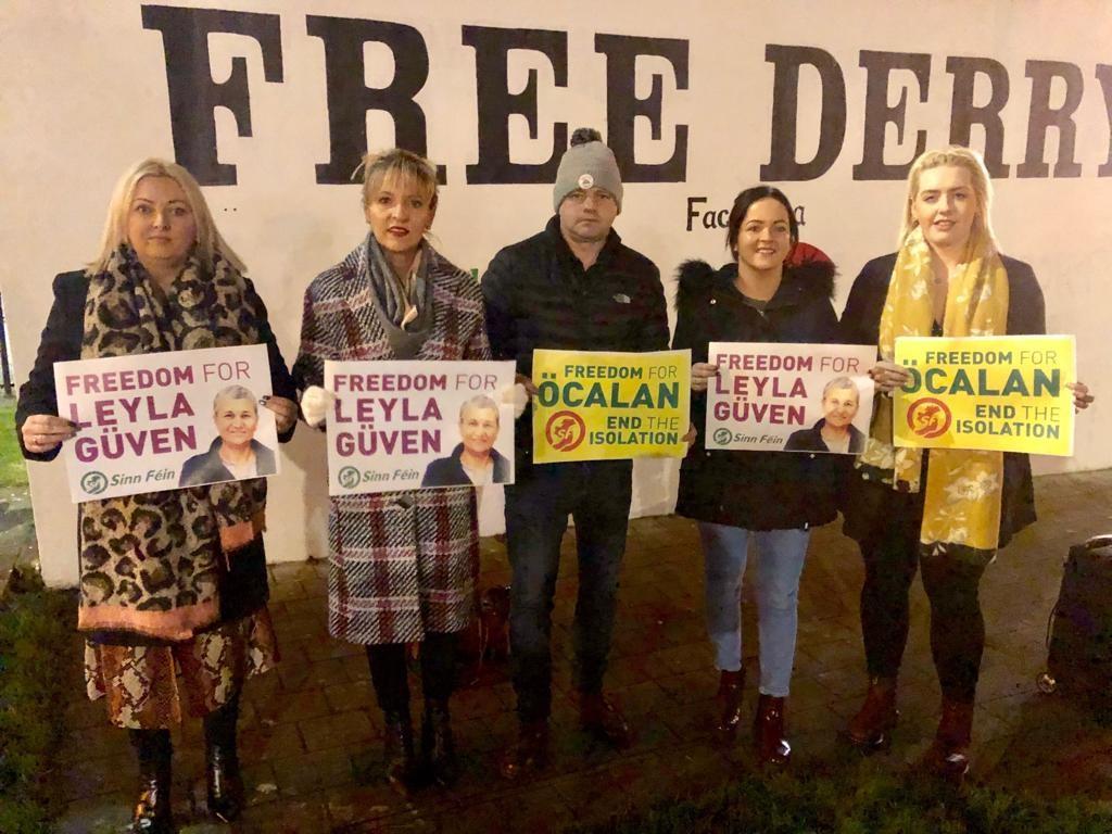 The Kurdish solidarity vigil in Derry