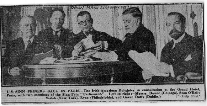 Paris Peace Conference Irish-American delegates