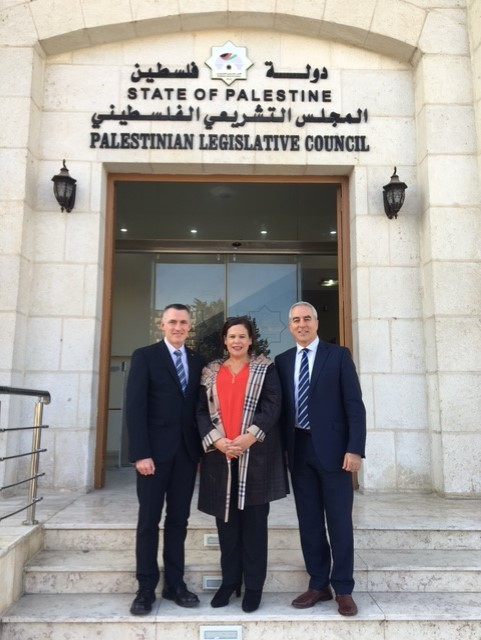 At the HQ of the Palestinian Legislative Council