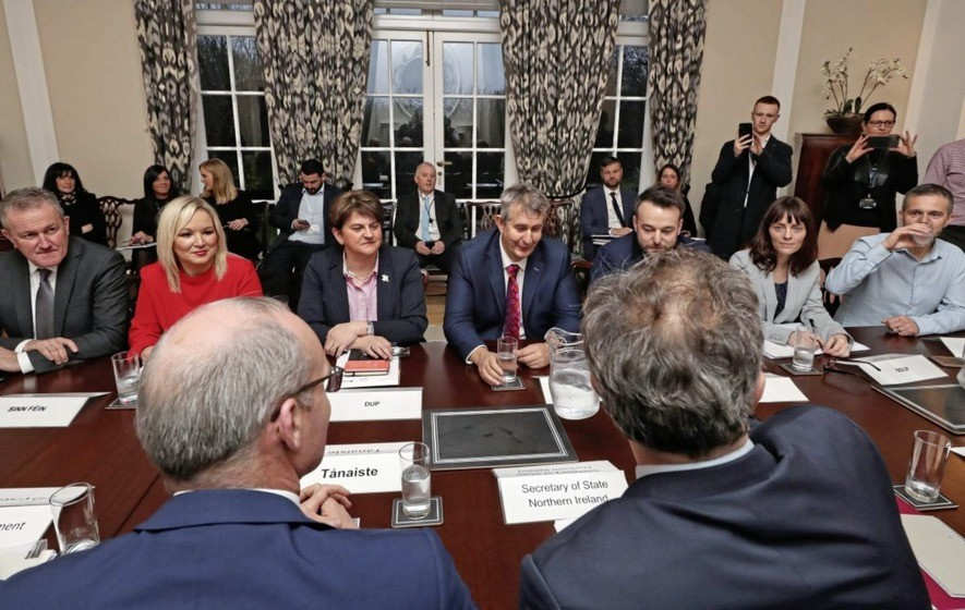 Round table talks at Stormont.