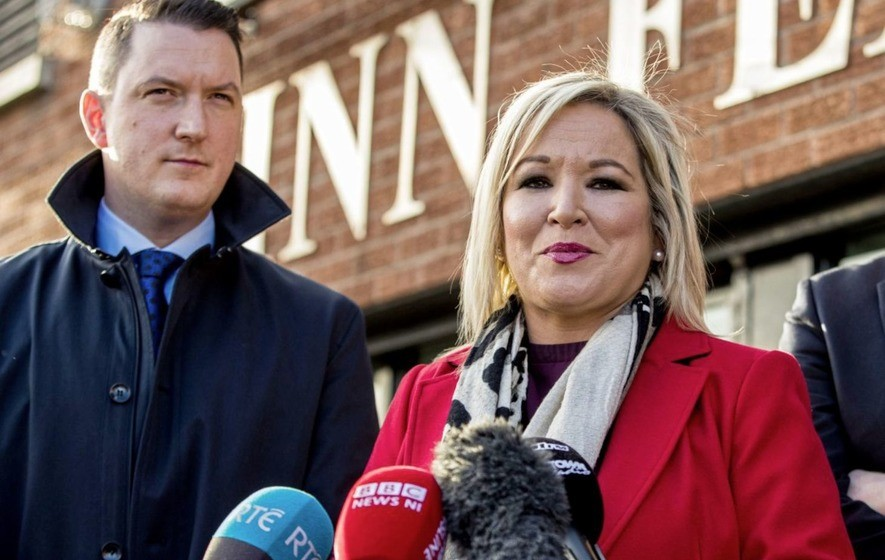 Michelle O'Neill and Pat Finucane.