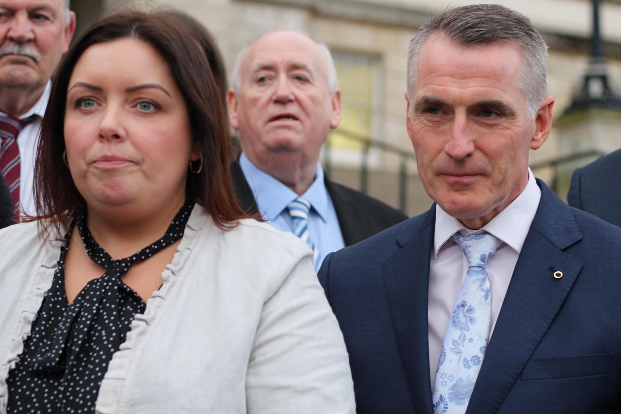 NewSinn Fein ministers Deirdre Hargey and Declan Kearney.