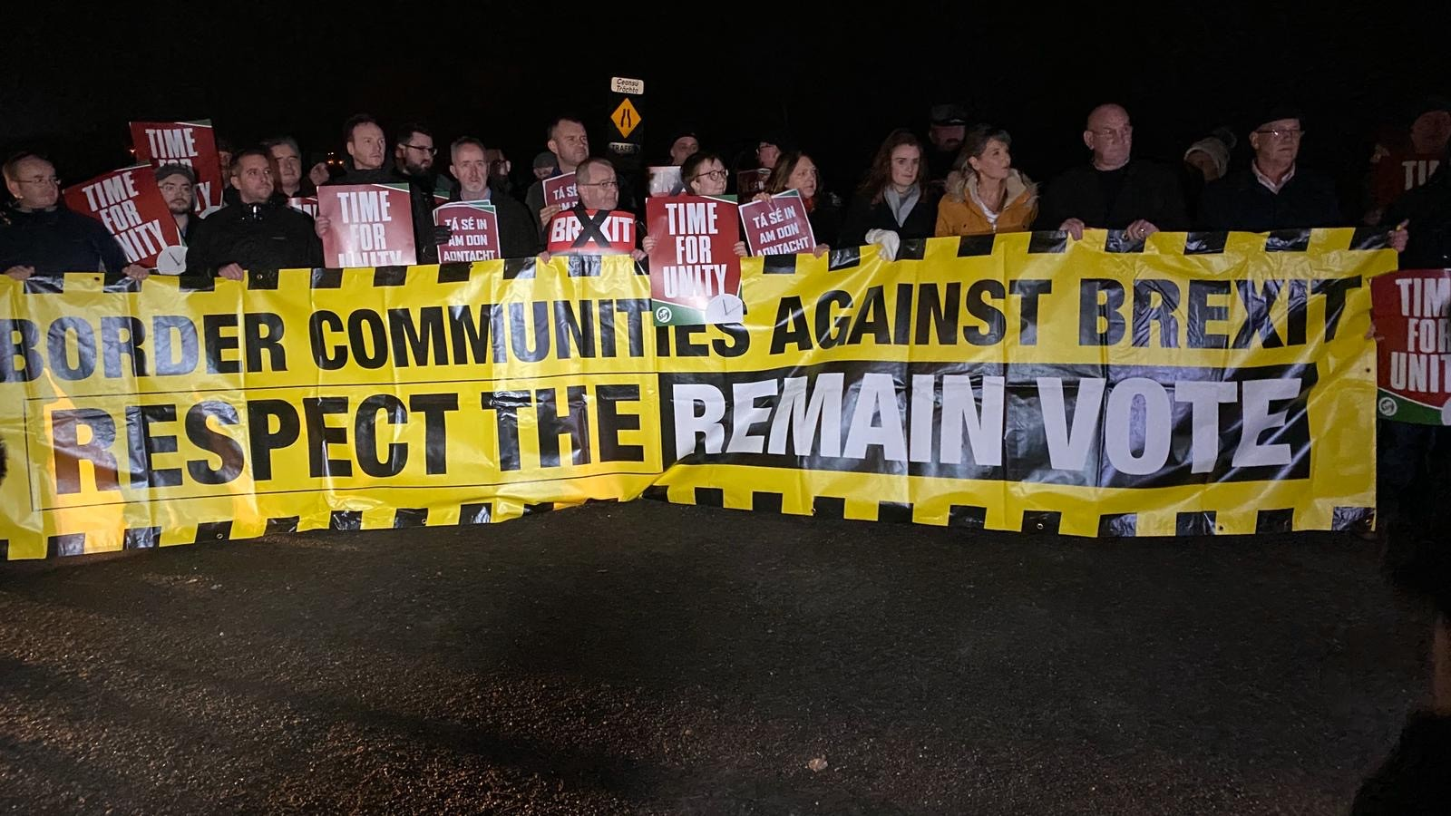 Protests at the border as the north is dragged out of the EU.