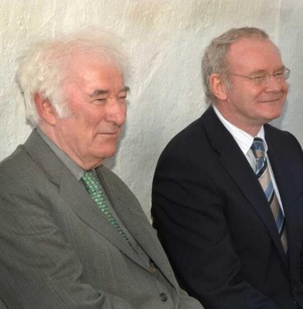 Seamus Heaney and Martin McGuinness.