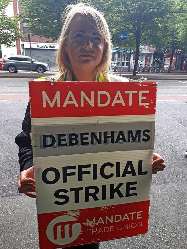 Debenhams worker, Freda Sweeney