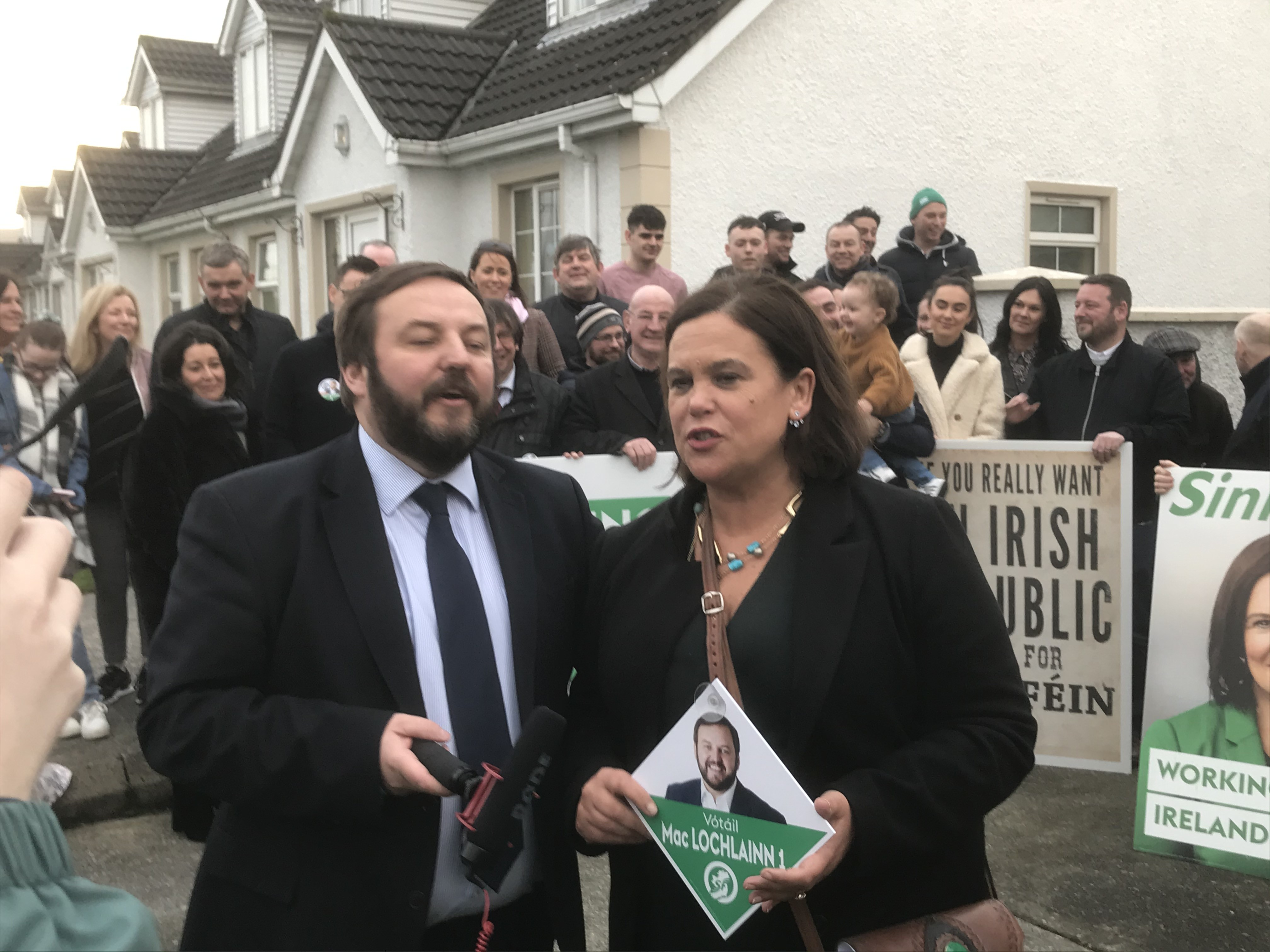 Mary Lou McDonald on the campaign trail.