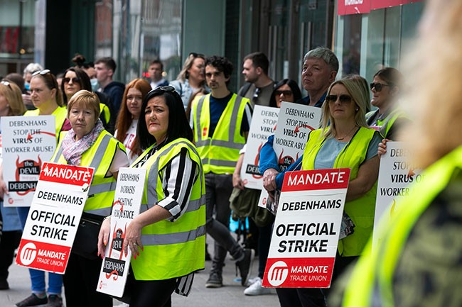 Mary Lou McDonald and Debenhams workers