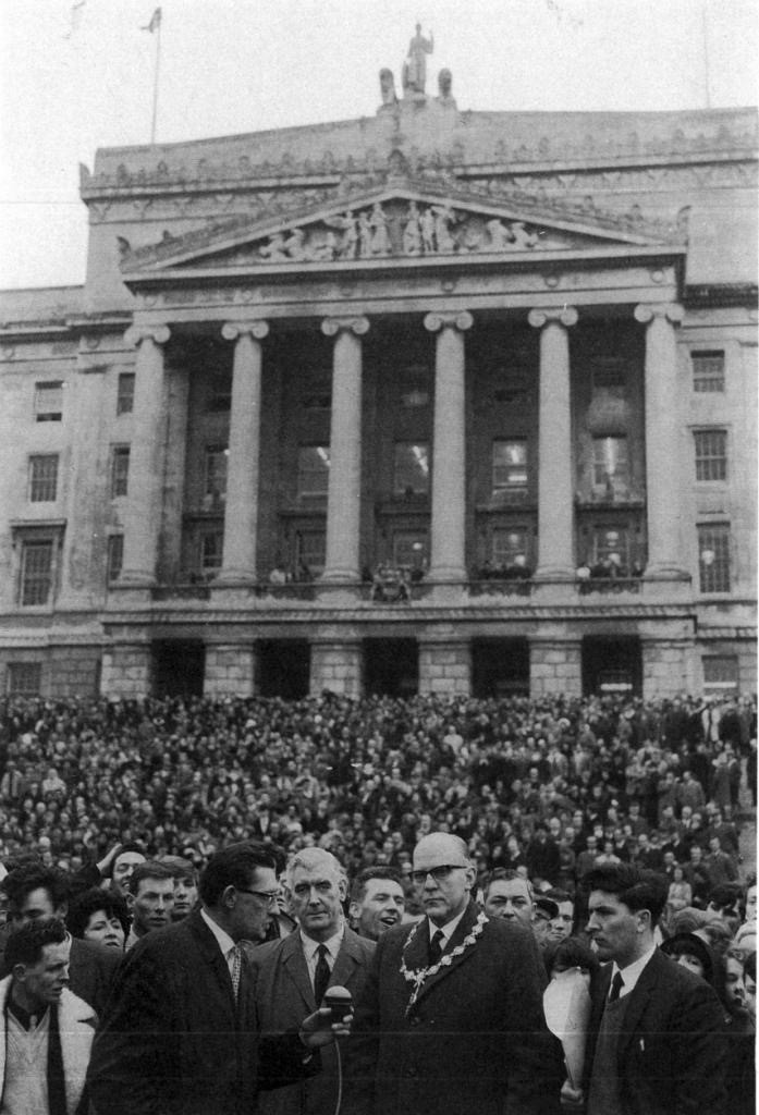 Mass protest at Stormont in 1965