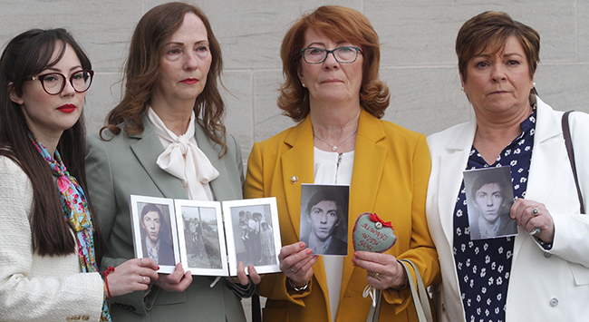 Ballymurphy Inquest - relatives of John Laverty 2