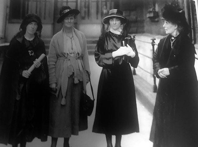 Kathleen O'Callaghan TD (second from right), widow of murdered former Limerick Mayor Michael O'Callaghan, at Dublin's Mansion House with Kathleen Clarke, Countess Markievicz and Mrs Pearse