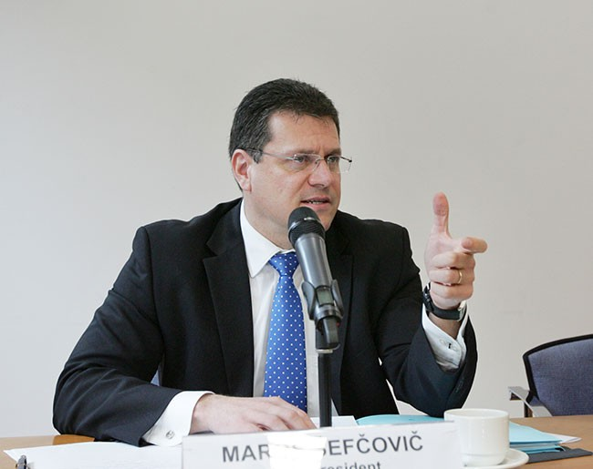 EU commission's vice-President Maros Sefcovic