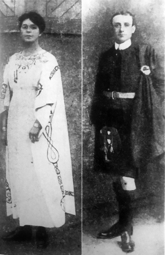 Murdered Mayor of Limerick Seoirse Clancy and his wife Mary