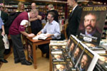 Gerry Adams signs copies of his latest book in Dublin