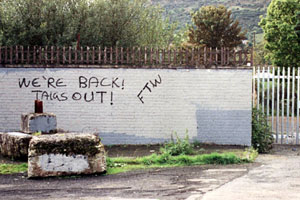 Loyalist graffiti threatens nationalists