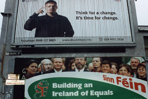 Sinn Féin's election billboard