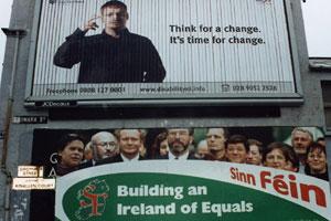 Sinn Féin's election billboard