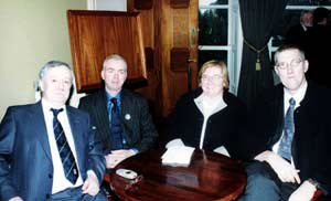 Sinn Féin candidates for Foyle, Raymond McCartney, Mary Nelis and Mitchel McLaughlin