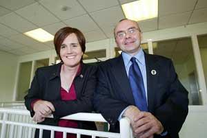Caitríona Ruane and Paul Butler