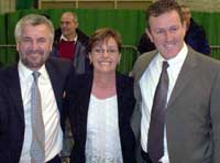 Davy Hyland, Pat O'Rawe and Conor Murphy at Banbridge Count Centre