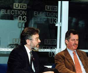 Gerry Adams and Alban McGuinness
