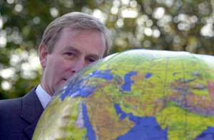 Being attacked by Fine Gael leader Enda Kenny is a bit like being beaten around the head with a balloon