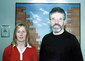 Irene Sherry with Gerry Adams