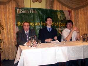 Mitchel McLaughlin, Pearse Doherty and Thomas Pringle