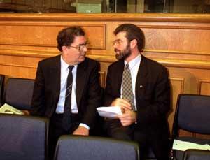 John Hume and Gerry Adams