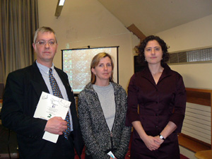 Mike Ritchie of Coiste na nIarchimí, Louise Purbrick from the University of Brighton and Liz Sevcenko from the International Coalition of Historic Site Museums of Conscience