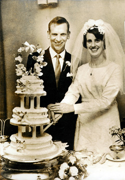 Patsy Kelly on his wedding day