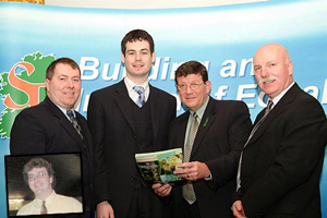 Gerry McMonagle, Pearse Doherty, Pat Doherty and Tony McDaid are pictured at the Letterkenny convention (inset) Thomas Pringle