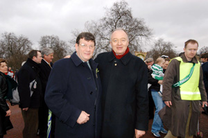 Sinn Féin MP Pat Doherty and London Mayor Ken Livingstone