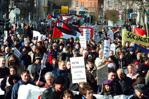 Thousands marched through Dublin to protest