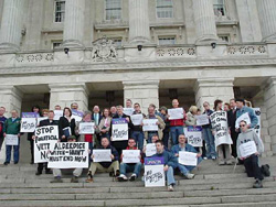 Anti-IMC picket at Stormont