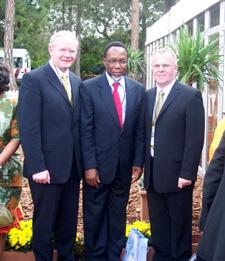 Martin McGuinness, ANC secretary general Kalema Molente and former hunger striker Raymond McCartney