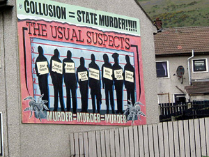 A new wall mural in Ballymurphy, Belfast, highlights collusion