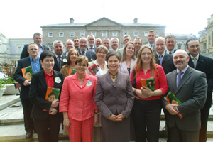 Sinn Féin MLAs were in Dublin on Tuesday to canvass with the city's EU candidate Mary Lou McDonald and to go to areas to work with local election candidates