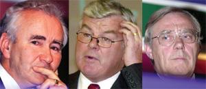 Gerry Scanlan, Roy Douglas and Tom Mulcahy