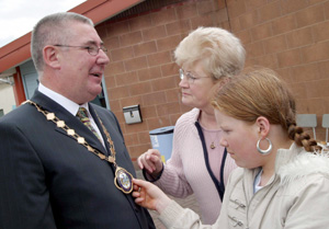 Joe O'Donnell and Short Strand residents celebrate his election as Deputy Mayor of Belfast