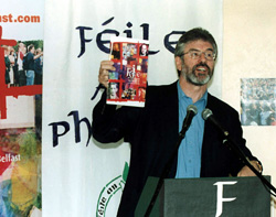Gerry Adams at the launch of this year's festival programme